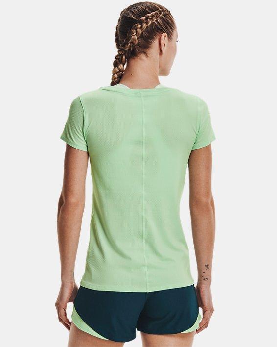 Women's HeatGear® Armour Short Sleeve, Green, pdpMainDesktop image number 1