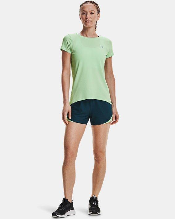 Women's HeatGear® Armour Short Sleeve, Green, pdpMainDesktop image number 2