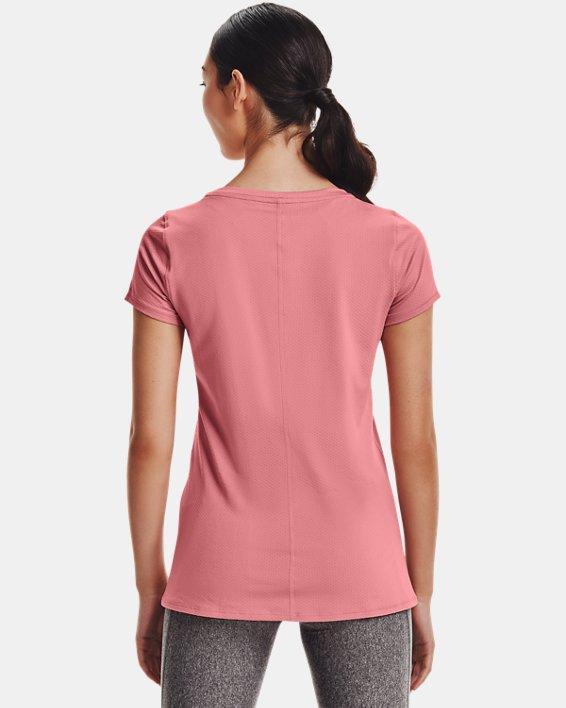Women's HeatGear® Armour Short Sleeve, Pink, pdpMainDesktop image number 1