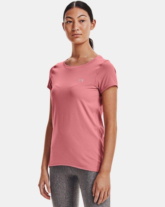 Women's HeatGear® Armour Short Sleeve, Pink, pdpMainDesktop image number 0