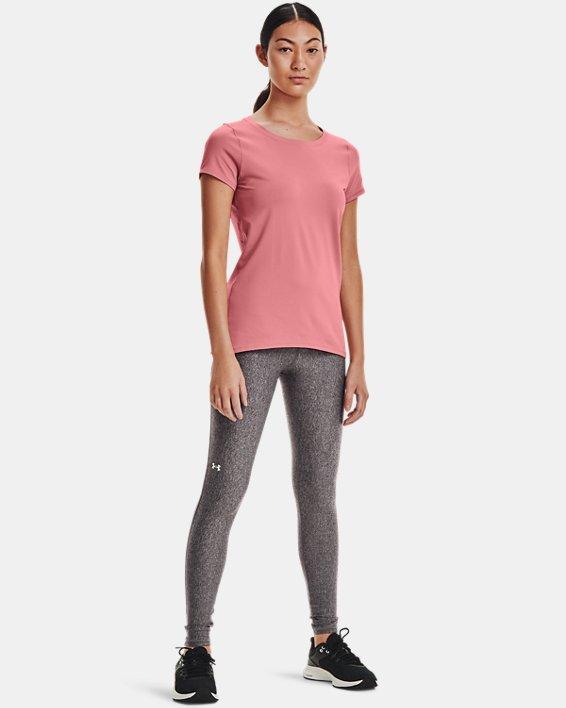 Women's HeatGear® Armour Short Sleeve, Pink, pdpMainDesktop image number 2