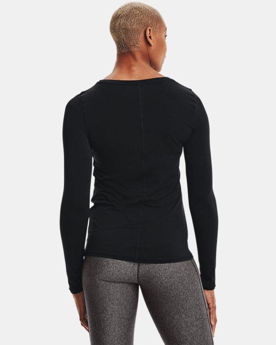 T-shirt à manches longues HeatGear® Armour pour femme, Black, pdpMainDesktop image number 3