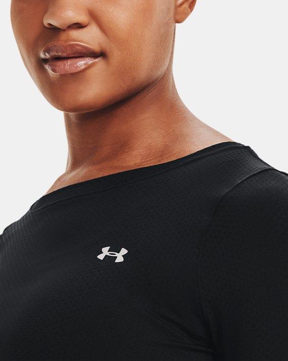 T-shirt à manches longues HeatGear® Armour pour femme, Black, pdpMainDesktop image number 6