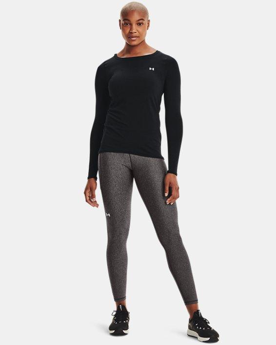 T-shirt à manches longues HeatGear® Armour pour femme, Black, pdpMainDesktop image number 1