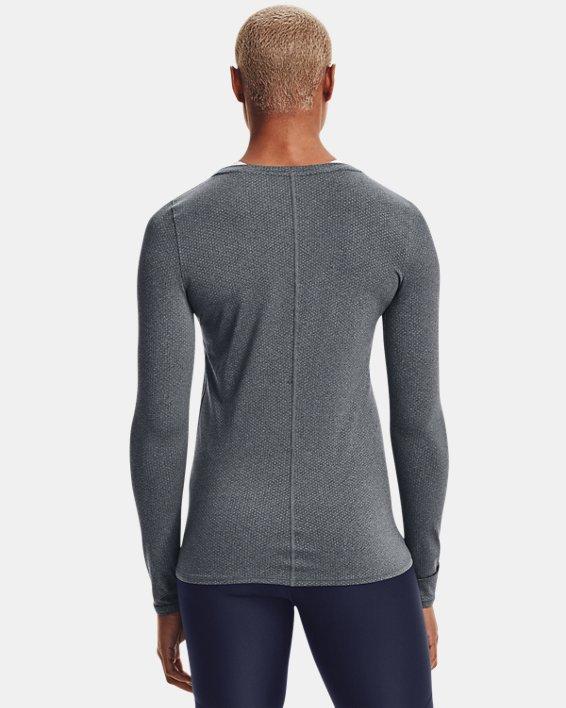 Women's HeatGear® Armour Long Sleeve, Gray, pdpMainDesktop image number 2