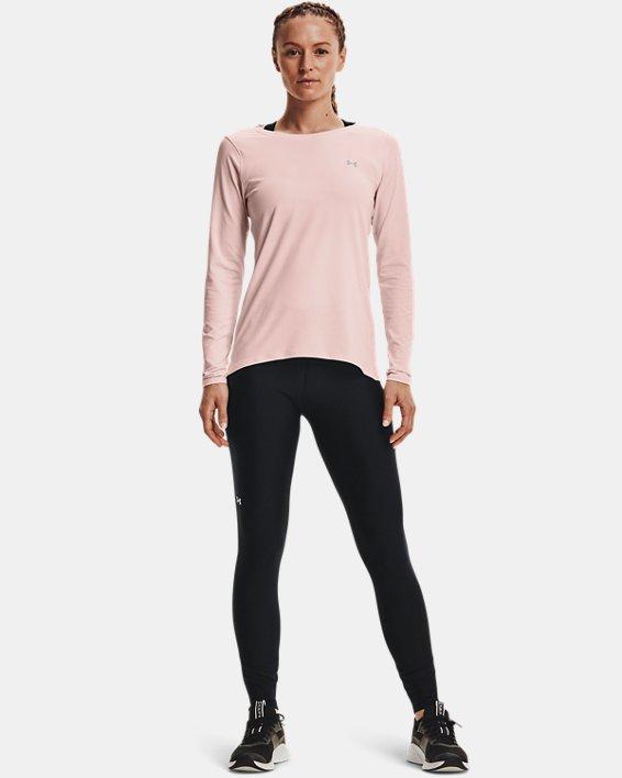 Women's HeatGear® Armour Long Sleeve, Pink, pdpMainDesktop image number 0