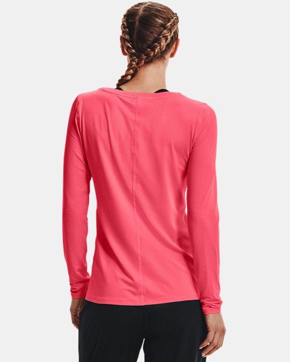 Women's HeatGear® Armour Long Sleeve, Pink, pdpMainDesktop image number 2