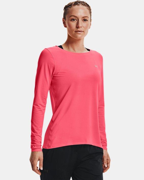 Women's HeatGear® Armour Long Sleeve, Pink, pdpMainDesktop image number 1