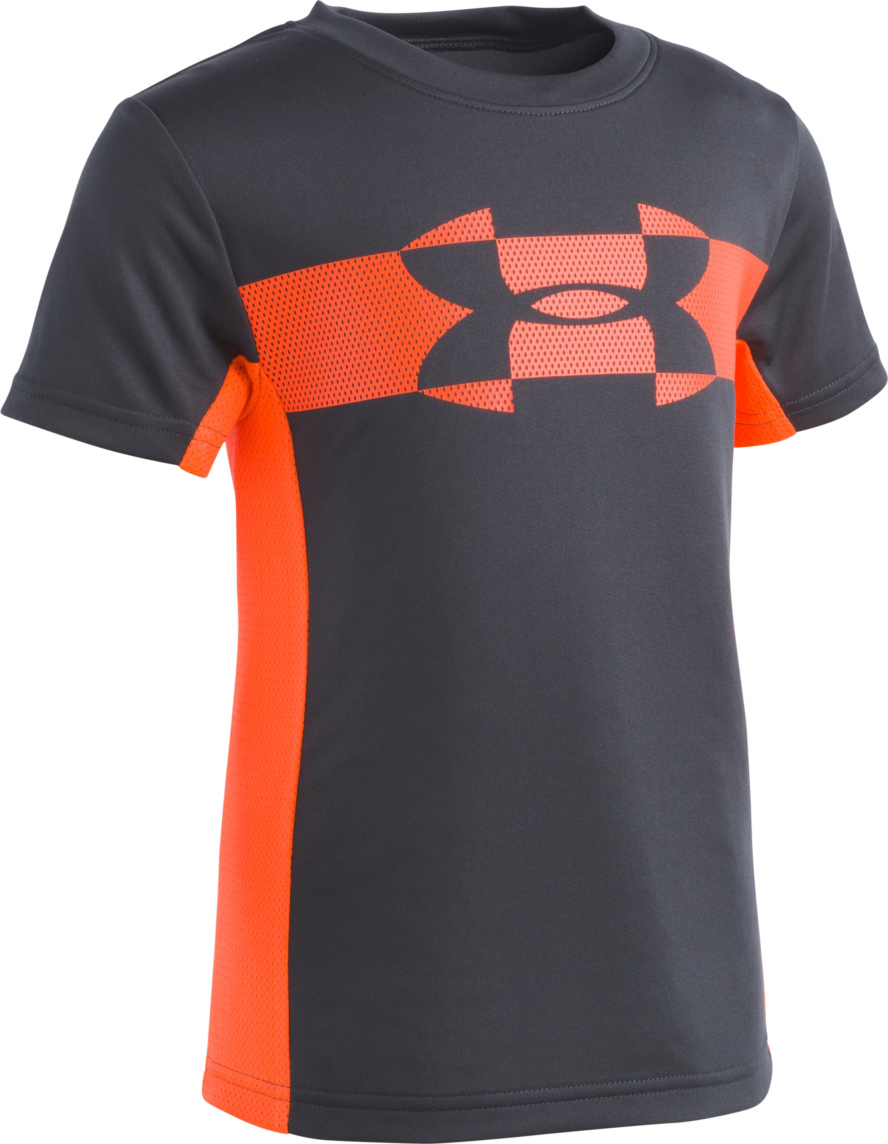 Boys' Toddler UA Mesh Logo Tech T-Shirt , ANTHRACITE