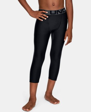 Under Armour Compression Fitted Camo Black Leggings Ankle Zip Gym Pants Mens M