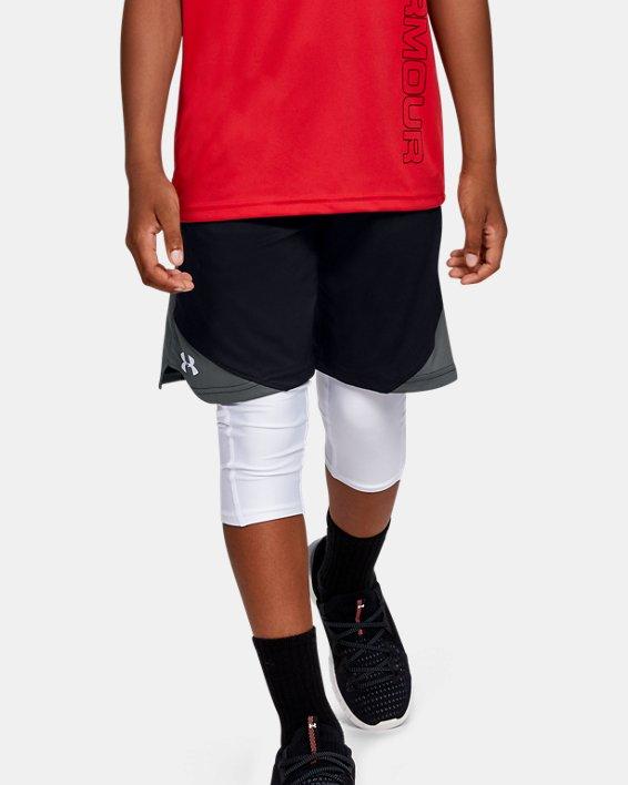 Boys' UA Stunt 2.0 Shorts, Black, pdpMainDesktop image number 0