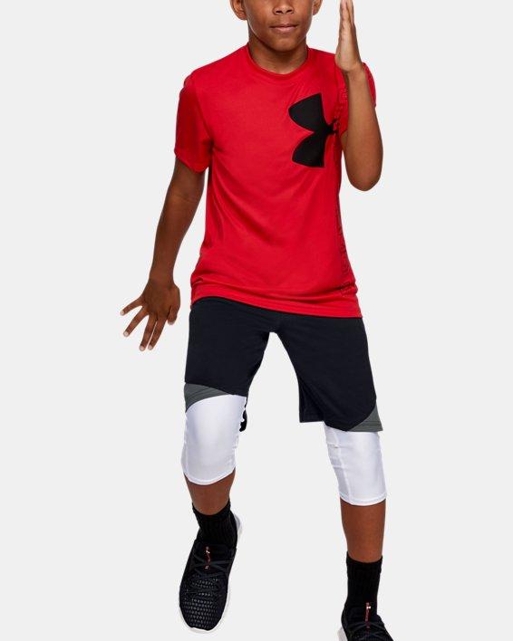 Boys' UA Stunt 2.0 Shorts, Black, pdpMainDesktop image number 1