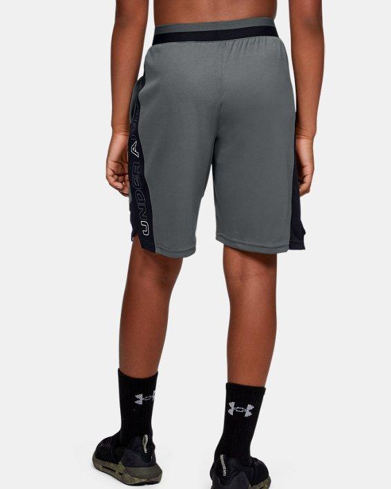 Boys' UA Stunt 2.0 Shorts, Gray, pdpMainDesktop image number 2