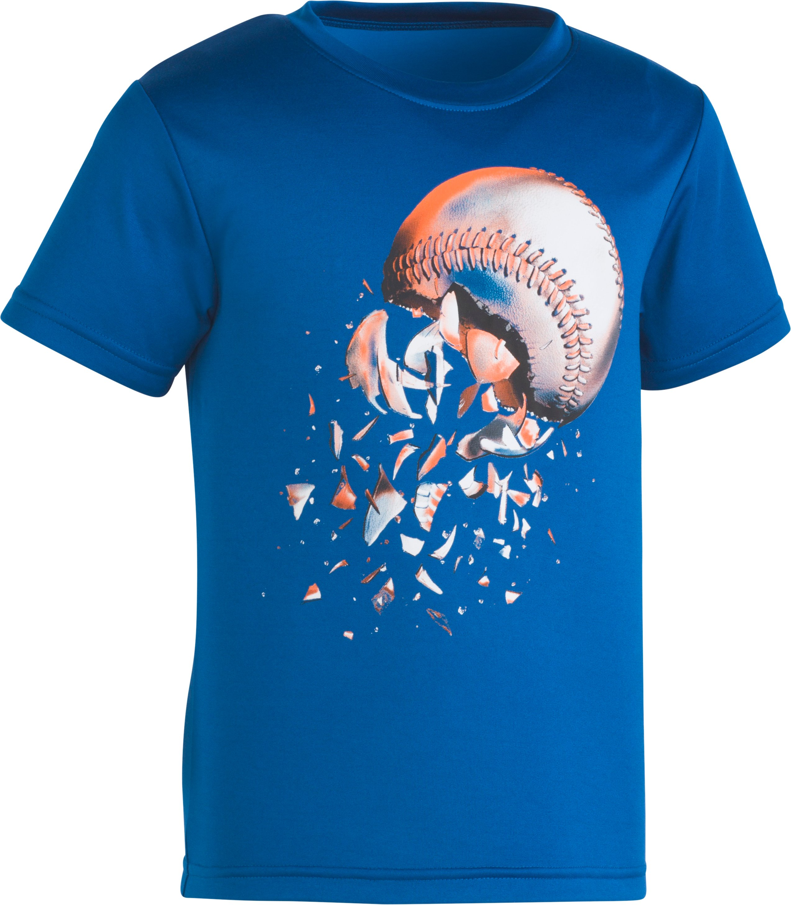 Boys' Toddler UA Baseball Explosion T-Shirt , Moroccan Blue, zoomed