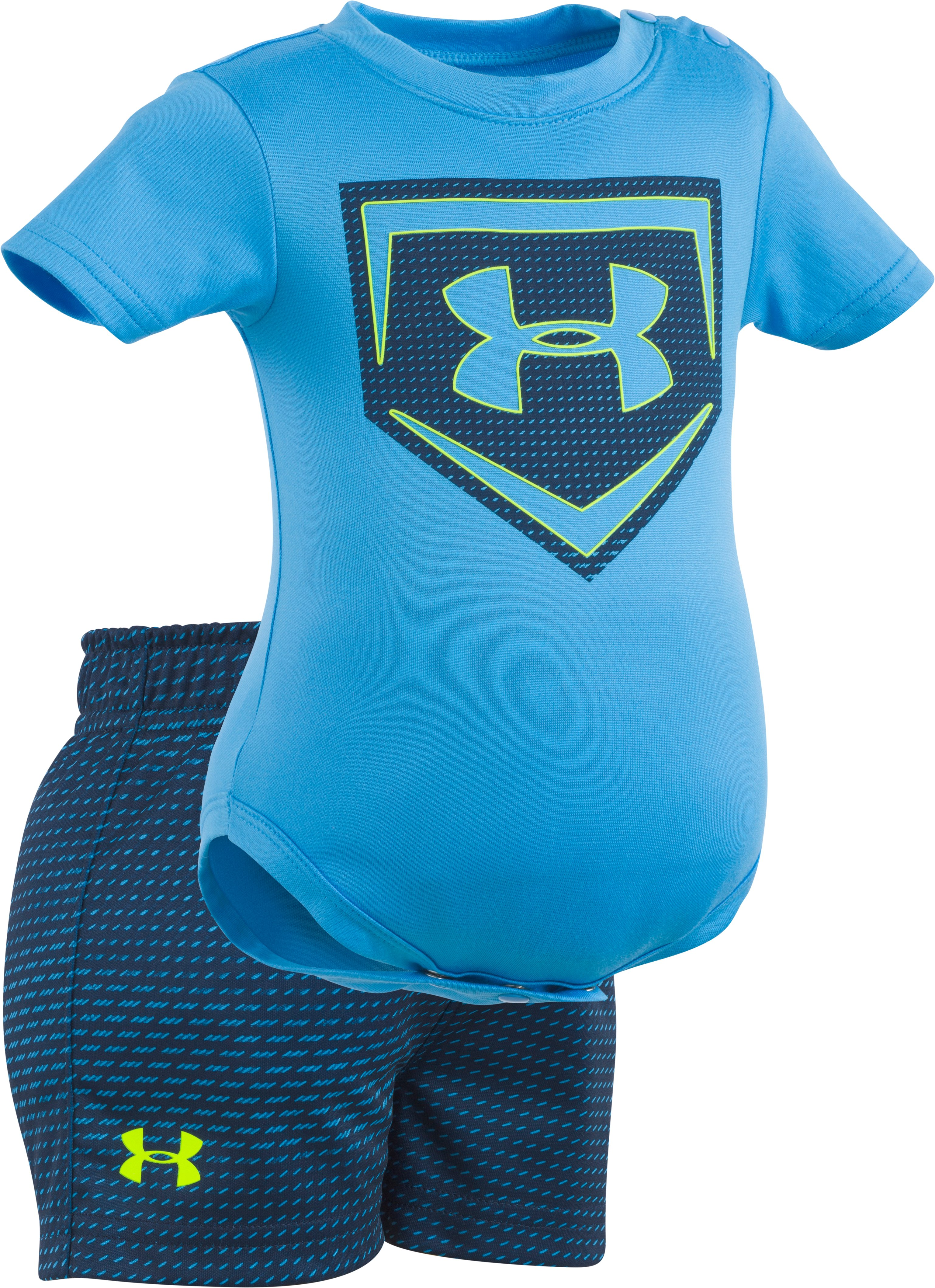 Boys' Newborn UA Sync Homeplate Set, Canoe Blue, zoomed