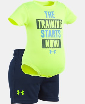 Boys' Newborn UA Training Starts Now Set   1  Color Available $28