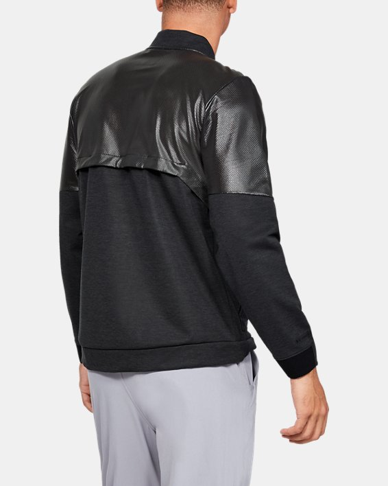 Men's UA Unstoppable Swacket Bomber Jacket, Black, pdpMainDesktop image number 2