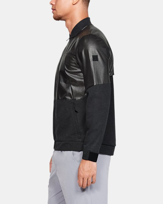 Men's UA Unstoppable Swacket Bomber Jacket, Black, pdpMainDesktop image number 3