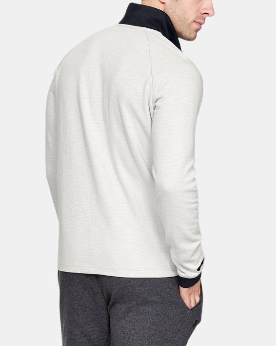 Men's UA Unstoppable Double Knit ½ Zip, White, pdpMainDesktop image number 2