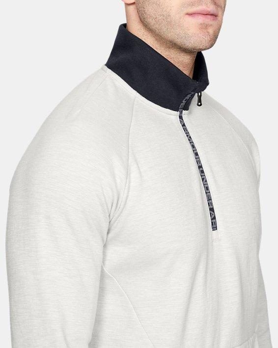 Men's UA Unstoppable Double Knit ½ Zip, White, pdpMainDesktop image number 5