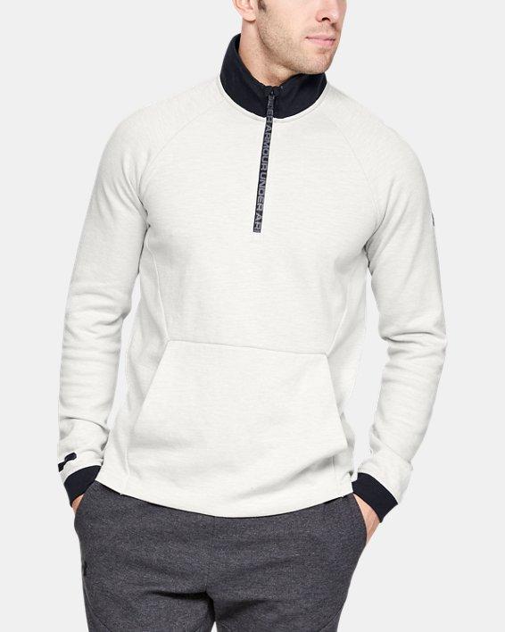 Men's UA Unstoppable Double Knit ½ Zip, White, pdpMainDesktop image number 0