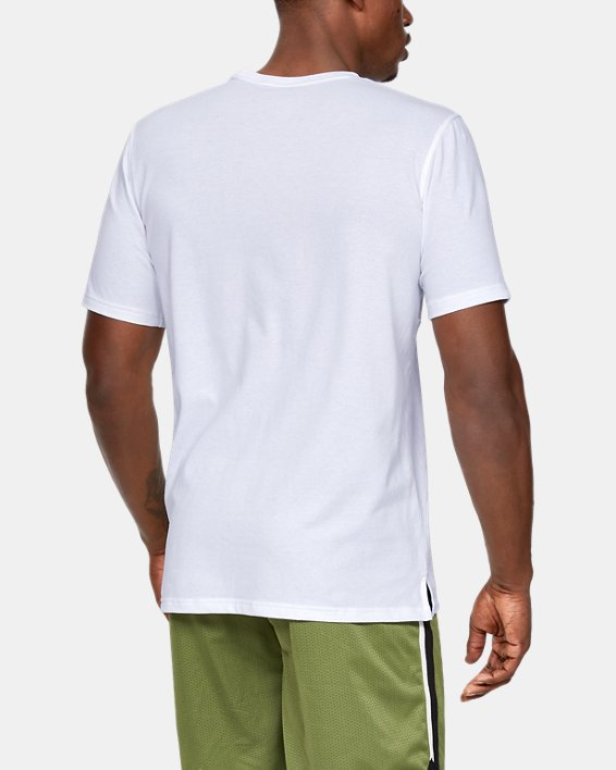 Men's UA Sportstyle Cotton Mesh T-Shirt, White, pdpMainDesktop image number 2