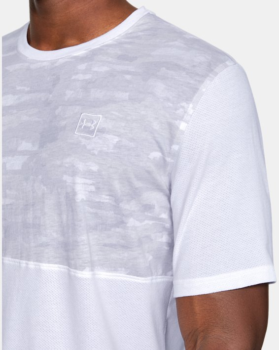 Men's UA Sportstyle Cotton Mesh T-Shirt, White, pdpMainDesktop image number 5