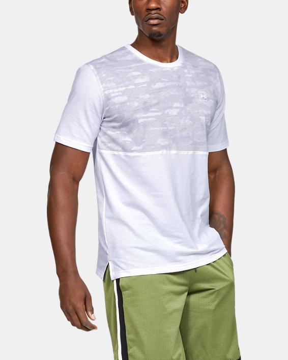 Men's UA Sportstyle Cotton Mesh T-Shirt, White, pdpMainDesktop image number 0