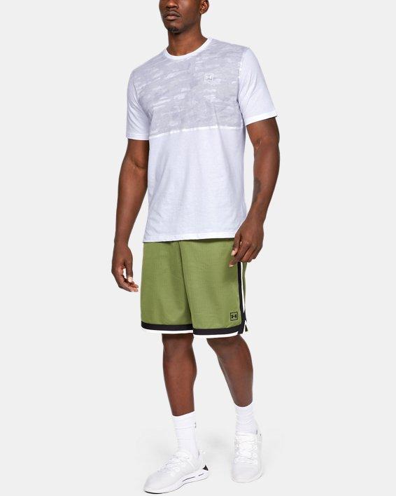 Men's UA Sportstyle Cotton Mesh T-Shirt, White, pdpMainDesktop image number 1