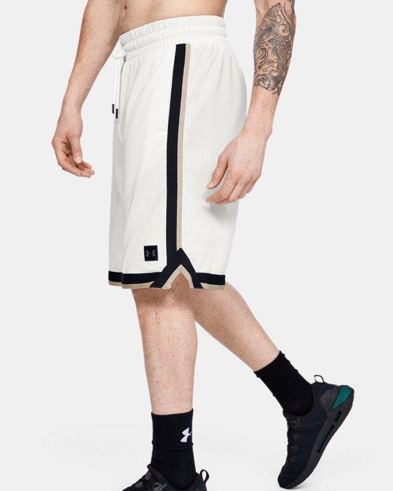 Men's UA Sportstyle Mesh Shorts, White, pdpMainDesktop image number 3