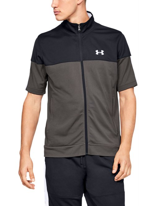 c4277a0873 Men's UA Sportstyle Pique Short Sleeve Full Zip