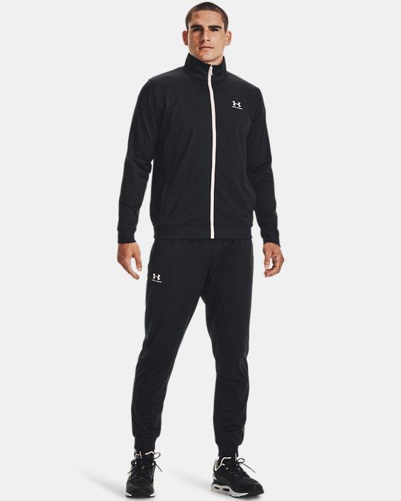 Men's UA Sportstyle Tricot Jacket, Black, pdpMainDesktop image number 1