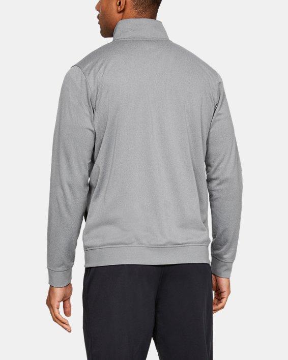 Men's UA Sportstyle Tricot Jacket, Gray, pdpMainDesktop image number 2