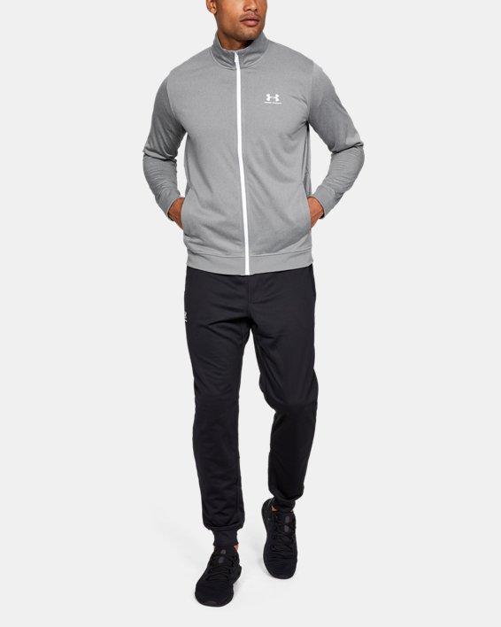 Men's UA Sportstyle Tricot Jacket, Gray, pdpMainDesktop image number 1