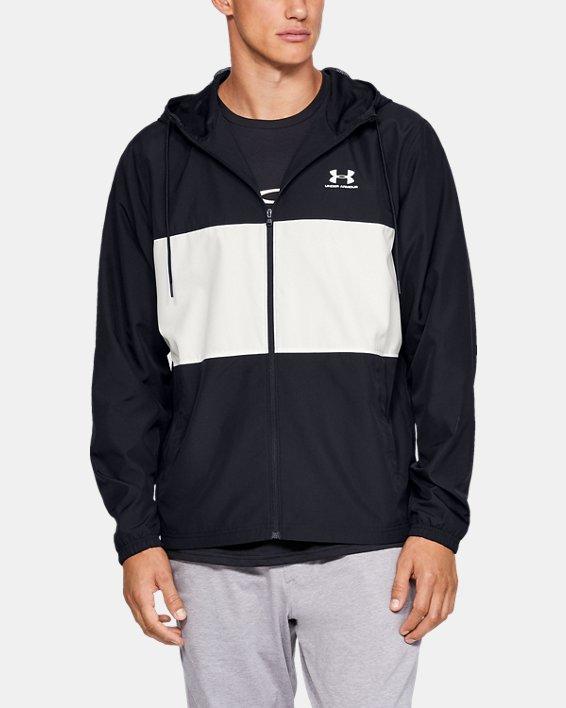 Men's UA Sportstyle Wind Jacket, Black, pdpMainDesktop image number 0
