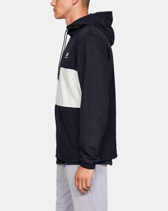 Men's UA Sportstyle Wind Jacket, Black, pdpMainDesktop image number 3