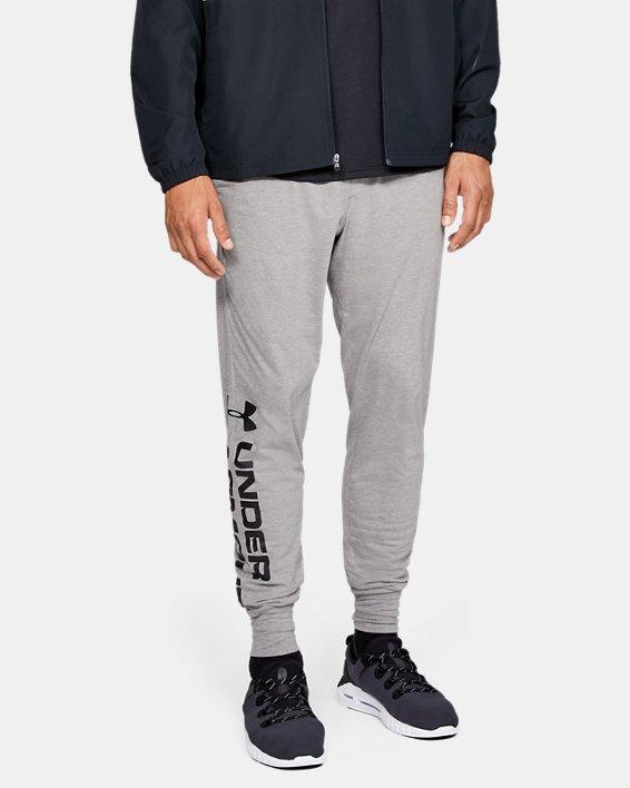 Men's UA Sportstyle Cotton Graphic Joggers, Gray, pdpMainDesktop image number 0