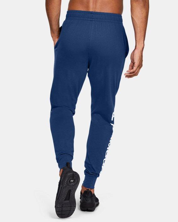 Men's UA Sportstyle Cotton Graphic Joggers, Blue, pdpMainDesktop image number 2