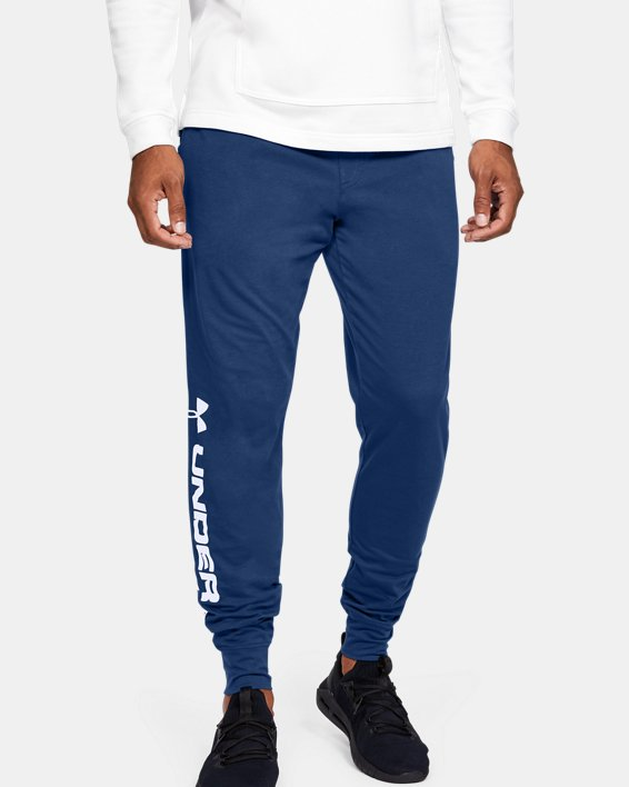 Men's UA Sportstyle Cotton Graphic Joggers, Blue, pdpMainDesktop image number 0