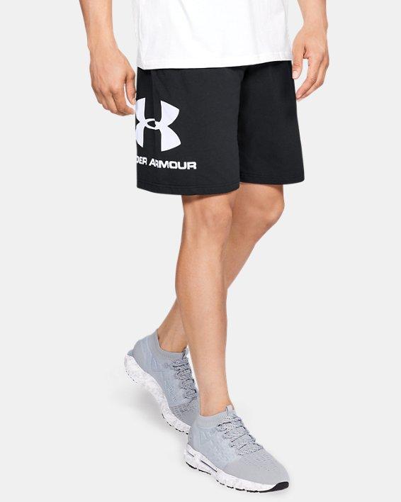 Men's UA Sportstyle Cotton Graphic Shorts, Black, pdpMainDesktop image number 0