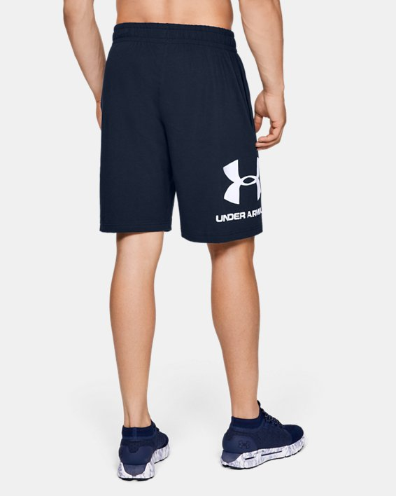 Men's UA Sportstyle Cotton Graphic Shorts, Navy, pdpMainDesktop image number 2