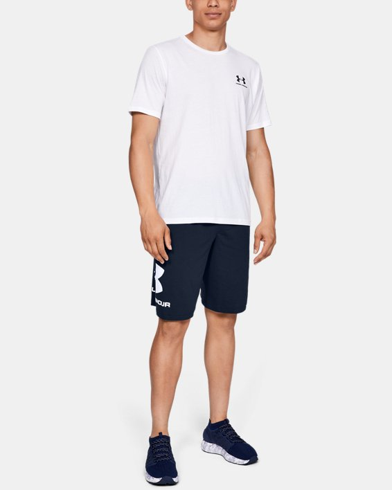 Men's UA Sportstyle Cotton Graphic Shorts, Navy, pdpMainDesktop image number 1