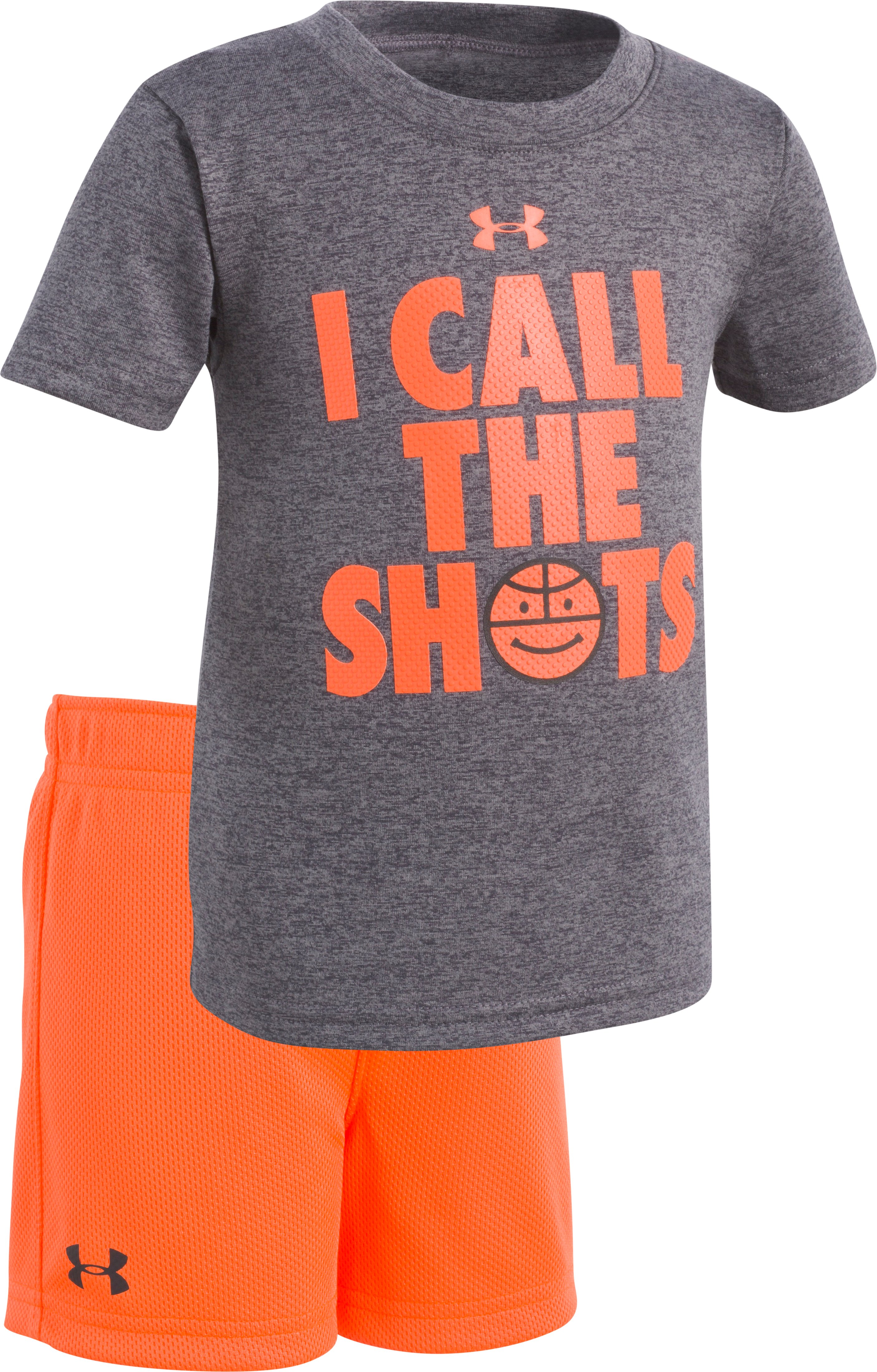 Boys' Infant UA Dunk You Very Much Set , Charcoal Medium Heather, zoomed