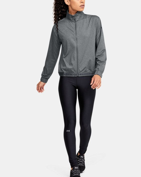 Women's HeatGear® Full Zip, Gray, pdpMainDesktop image number 1