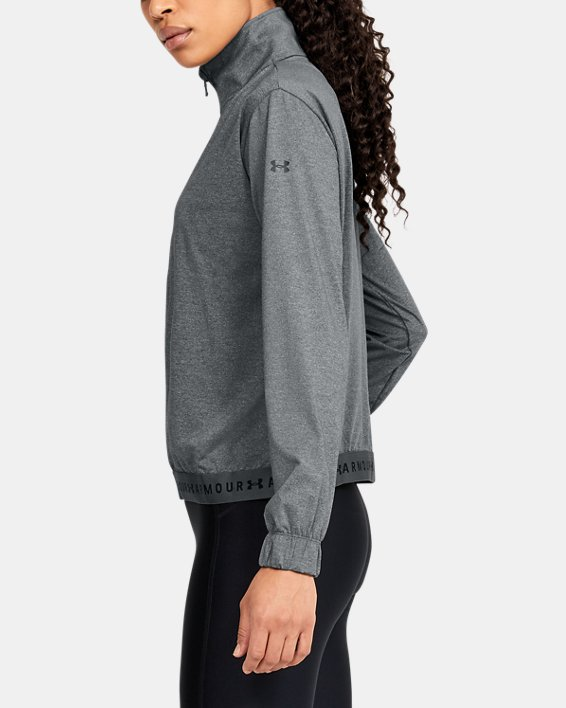 Women's HeatGear® Full Zip, Gray, pdpMainDesktop image number 3