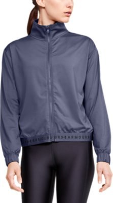 M NWT WOMEN/'S UNDER ARMOUR BLUE JACKET ACTIVE FITTED HEATGEAR FULL ZIP SZ S