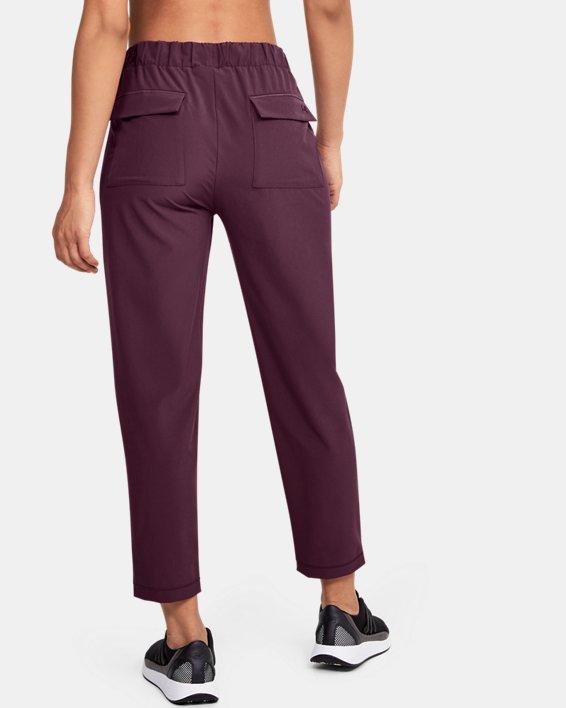Women's UA Woven Ankle Crop, Purple, pdpMainDesktop image number 2