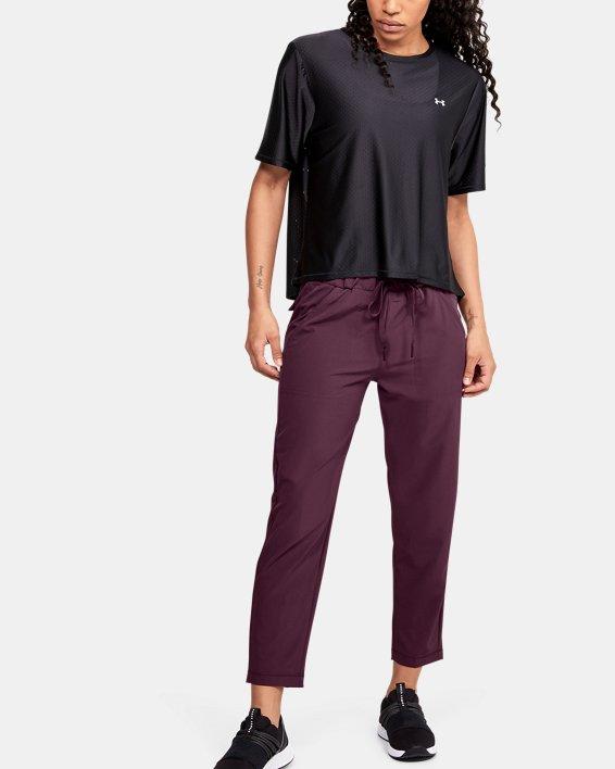 Women's UA Woven Ankle Crop, Purple, pdpMainDesktop image number 1