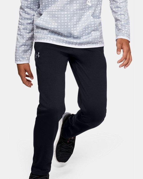 Boys' Armour Fleece® Pants, Black, pdpMainDesktop image number 0