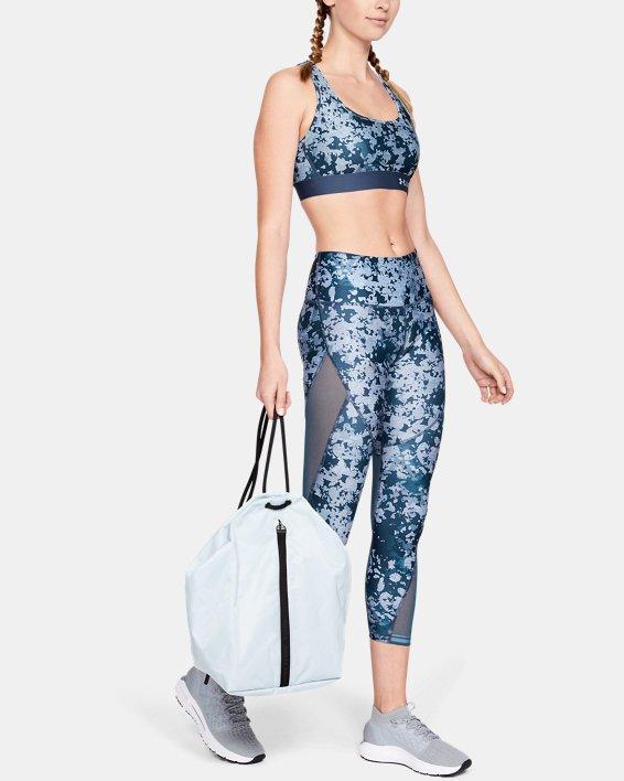 Women's HeatGear® Armour Print Ankle Crop, Blue, pdpMainDesktop image number 1